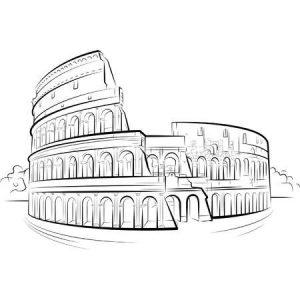 tekening colosseum